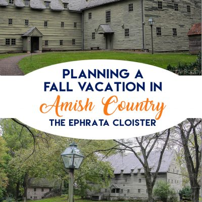 Planning a fall leaf-peeping vacation in Lancaster County PA- Intercourse, PA Amish Country vacation at Kitchen Kettle Village #amish #amishcountry #lancasterpa #vacation #fallvacation #fallideas #vacationideas #familyvacation #amishvacation #ephratacloister Ephrata Cloister