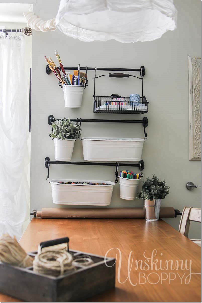 Craft Room Organization With Ikea Fintorp Buckets