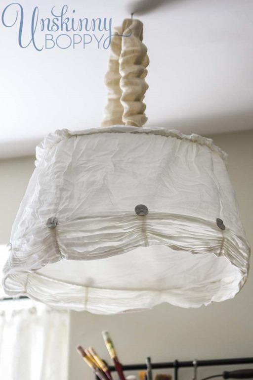 ruffled lampshade from ikea