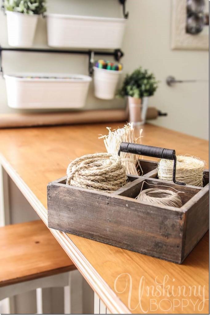 organize craft room farmhouse