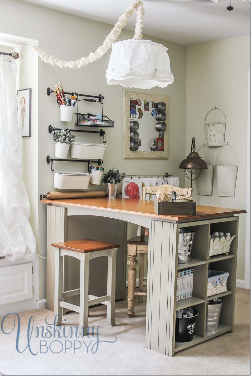 Project Desk for Craft Room Organization