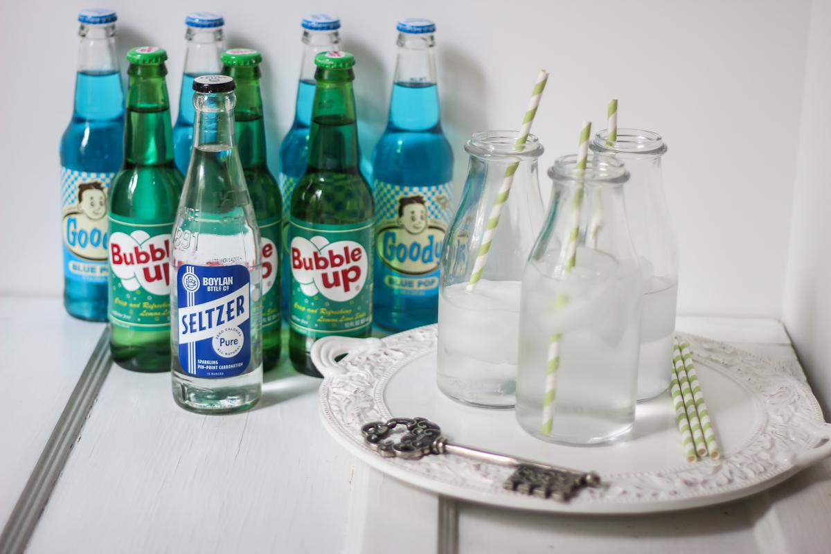 Vintage soda display