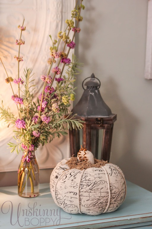 Beautyberry floral arrangement in the fall
