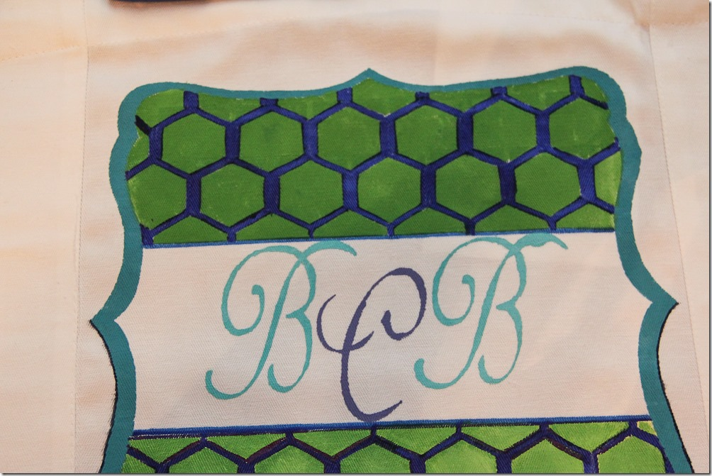 blue-green-monogramp-honeycomb