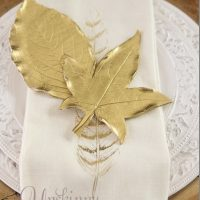 How to make Golden leaves from Clay