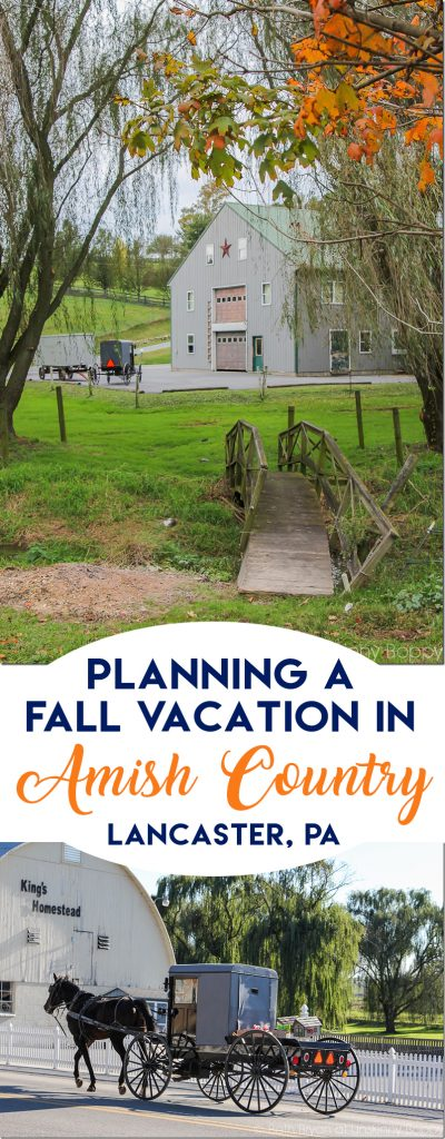 Planning a fall leaf-peeping vacation in Lancaster County PA- Intercourse, PA Amish Country vacation at Kitchen Kettle Village #amish #amishcountry #lancasterpa #vacation #fallvacation #fallideas #vacationideas #familyvacation #amishvacation