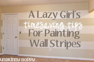 Timesaving tips for painting wall stripes