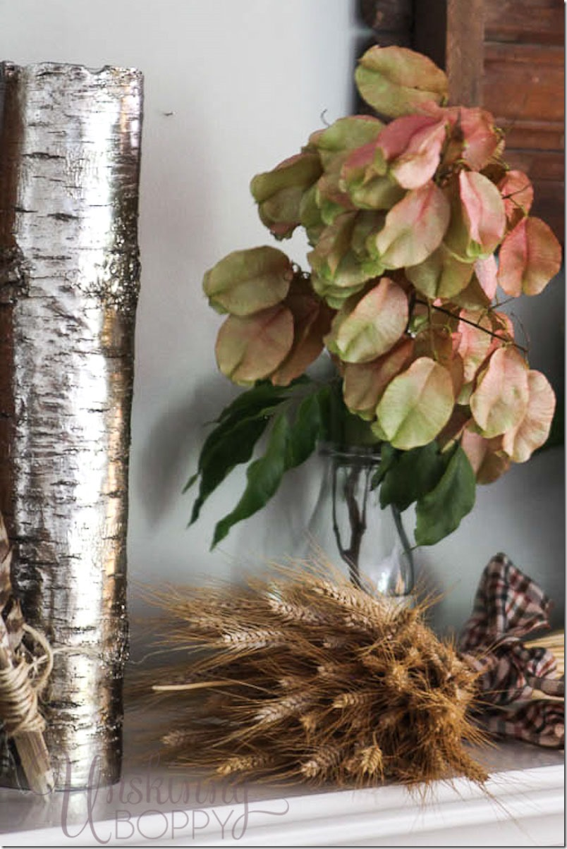 wheat-and-gingko-leaves-on-mantel