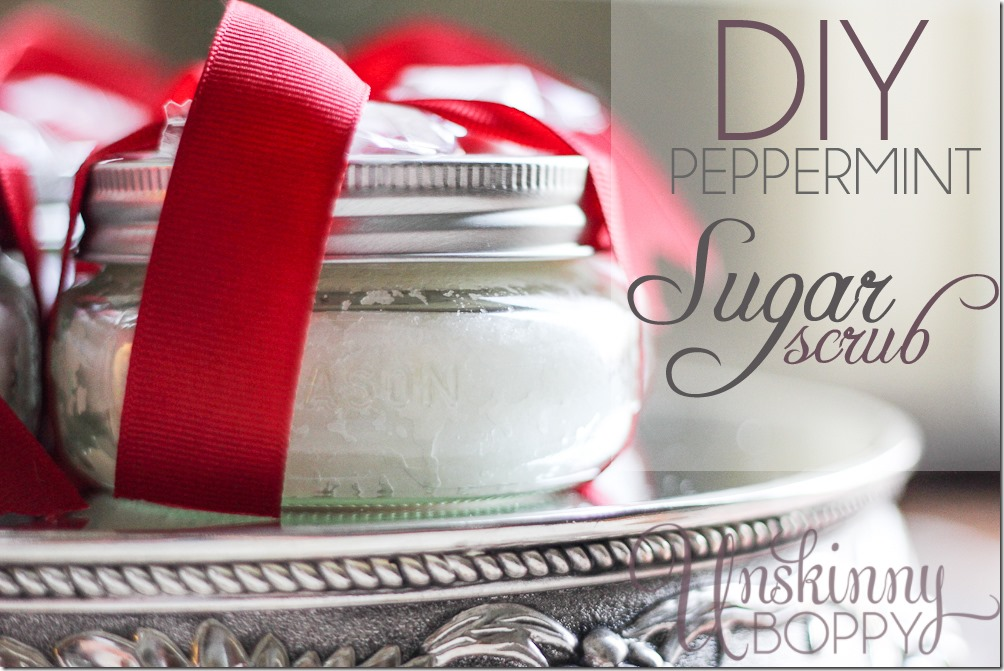 DIY peppermint sugar scrub with Young Living essential oils
