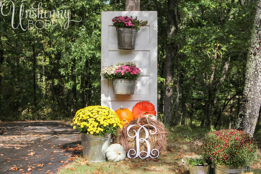 Scary halloween door decorating contest ideas - Fall Porch Decor With Plants And Pumpkins Unskinny Boppy