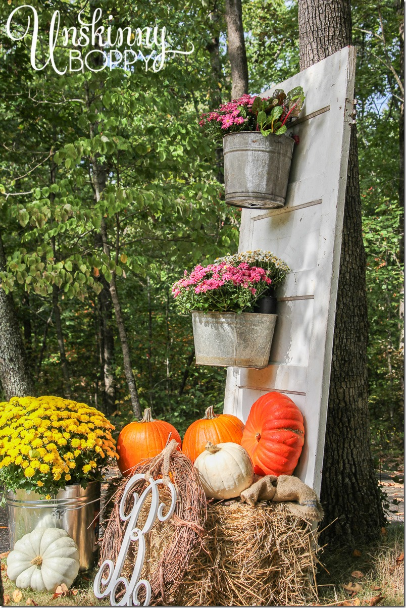 Fall Porch Decor with Plants and Pumpkins - Unskinny Boppy on Fall Backyard Decorating Ideas id=67594