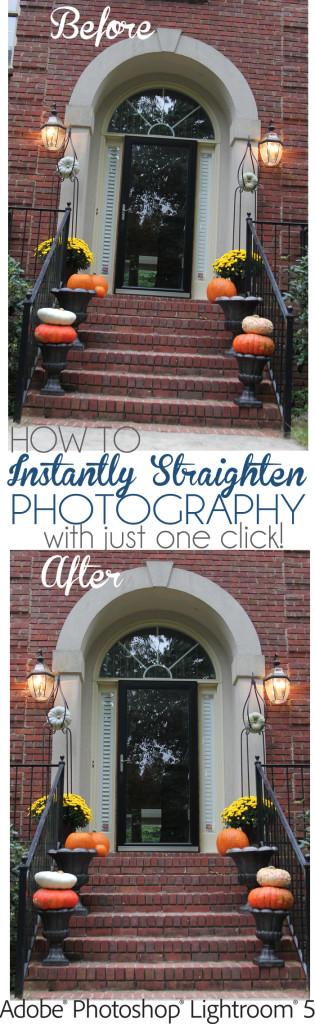 How to straighten photos in lightroom5