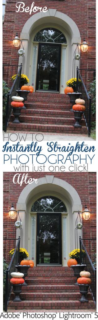 How to straighten photos in lightroom5