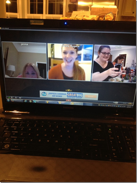Getting the girls together for our Wildtree Freezer Meals Workshop via Skype.