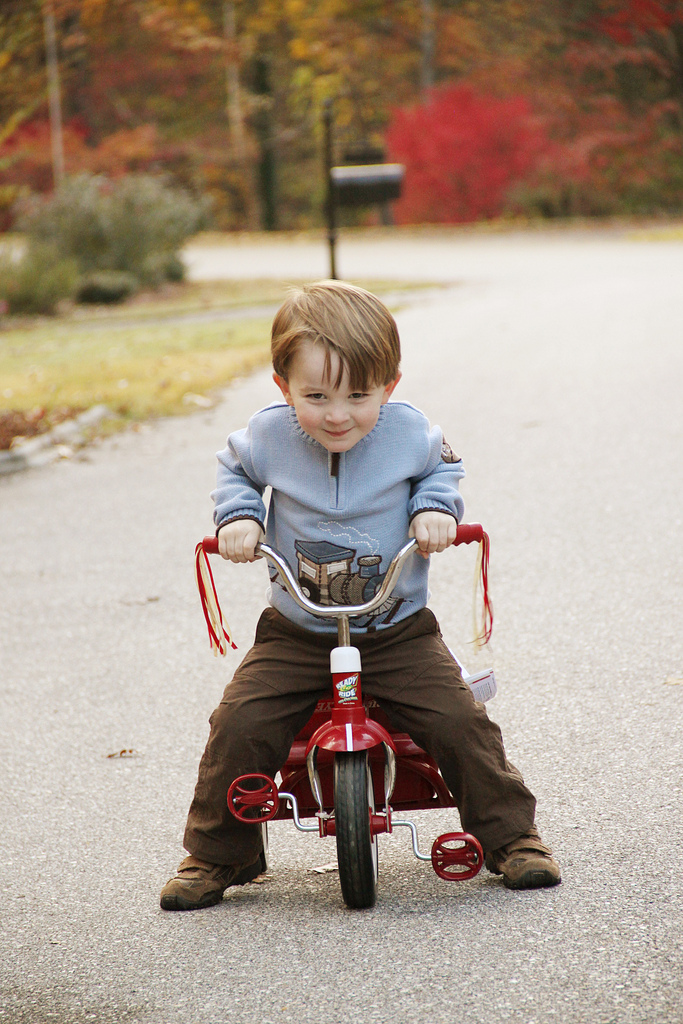 kid on his trike