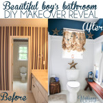 Beautiful Boys bathroom DIY Makeover reveal