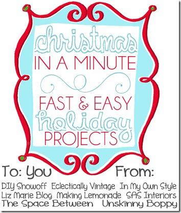 CHRISTMAS IN A MINUTE 8 Bloggers