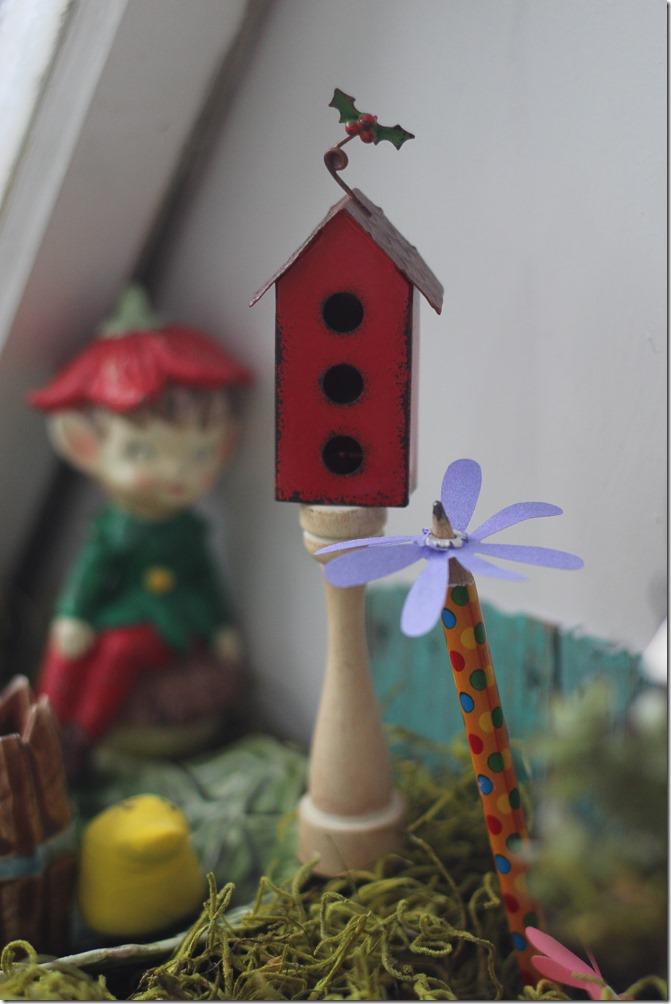 Tiny birdhouse in my DIY Fairy Garden