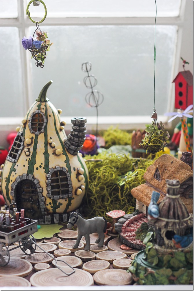 The main village in the DIY Fairy Garden