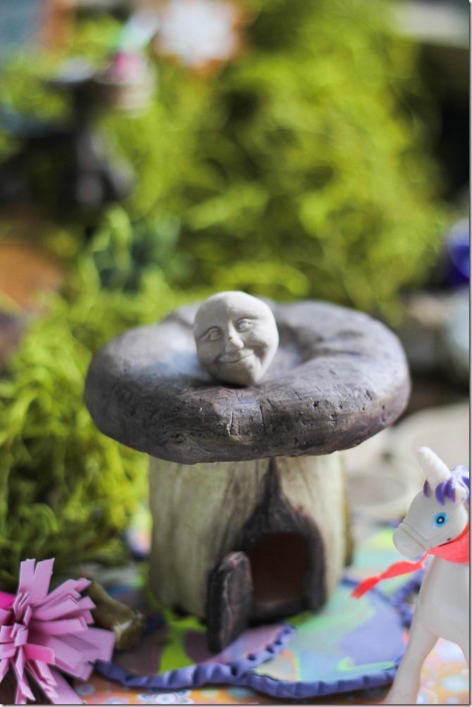 Cute little village details in my DIY Fairy Garden