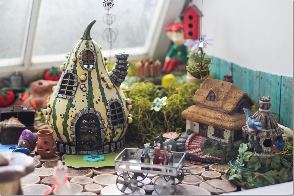 The mini village in my DIY Fairy Garden