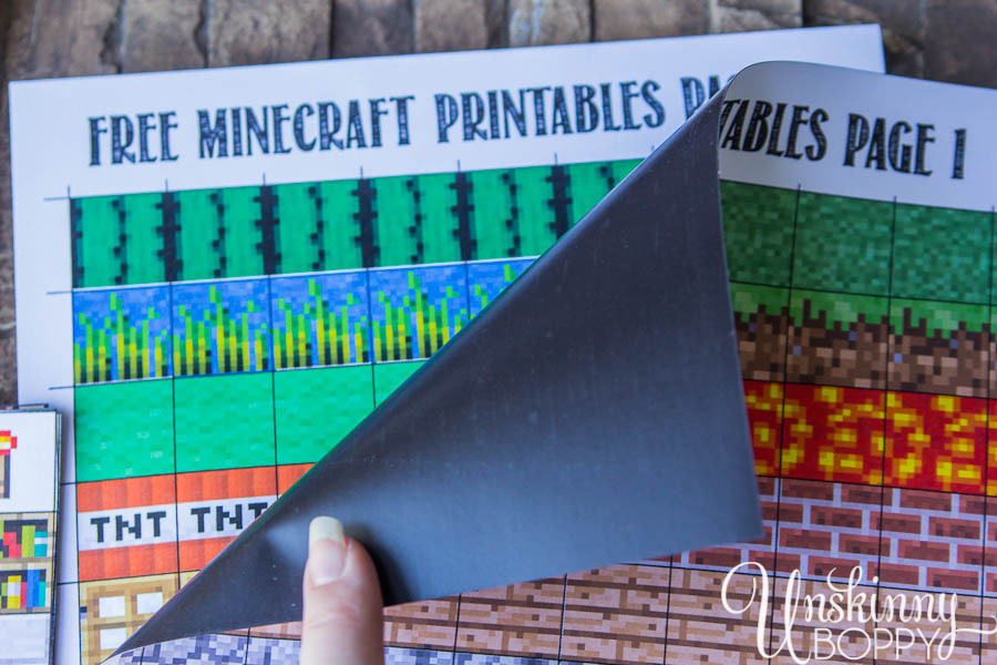 Free Minecraft Magnet Printables-2