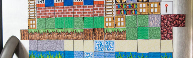 Minecraft Magnets: Make your Own (Free Printable)