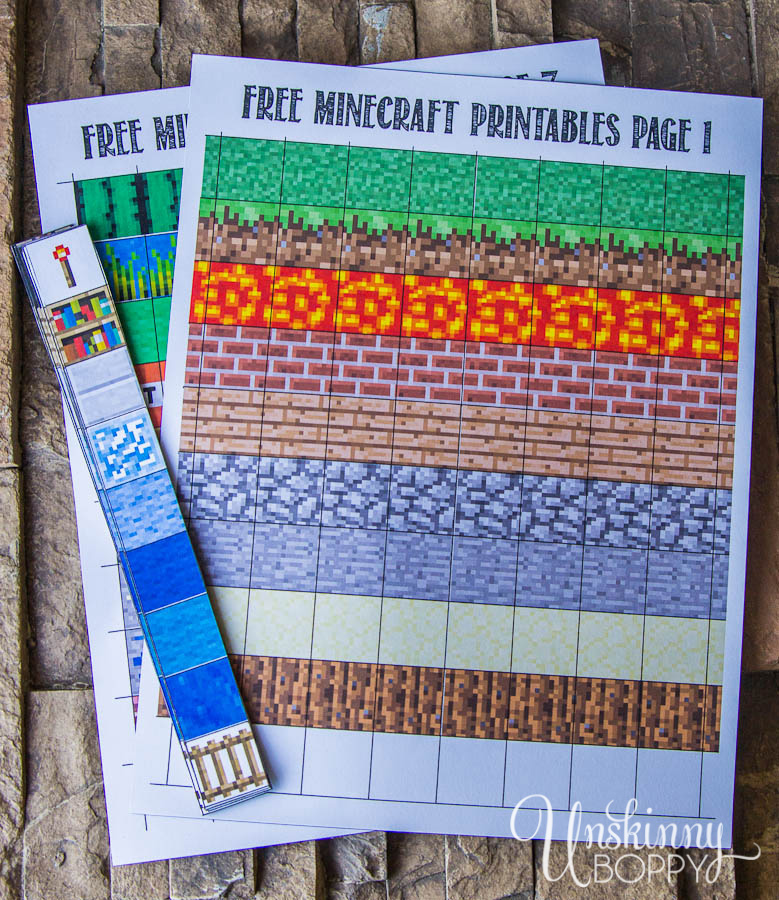 Free Minecraft Magnet Printables