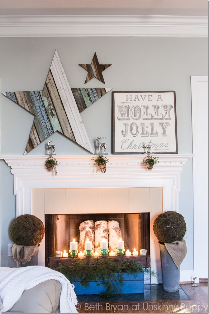 Make your fireplace mantel christmas-ready with this easy and fun DIY project.