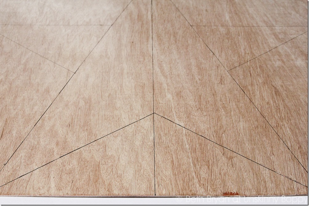 Here is the final traced outline for the DIY wood star mantlepiece template.