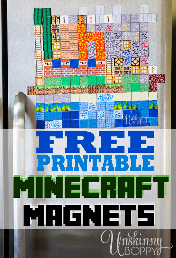 photograph about Printable Magnets named Minecraft Magnets: Crank out your Particular (Totally free Printable) - Unskinny