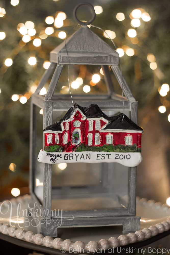 Personalized DIY House replica Christmas Ornaments made from Polymer Clay-2
