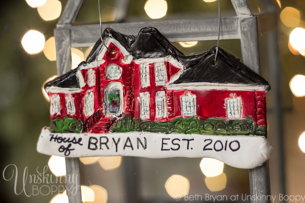 Personalized DIY House replica Christmas Ornaments made from Polymer Clay-3