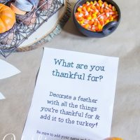 Creating a Thanksgiving Tradition for the Kids