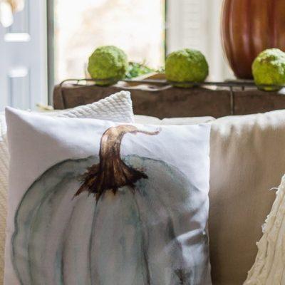 New Favorite: Watercolor Pumpkin Pillow