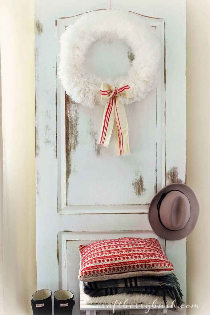 fluffly christmas wreath  by craftberry bush