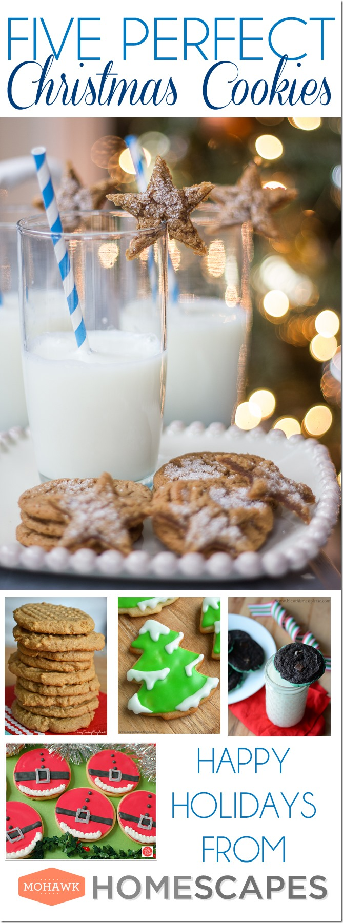 5 Perfect Christmas Cookies, 5 Perfect Christmas Cookies, Beth Bryan, unskinnyboppy, Mohawk Homescapes, holiday cookies