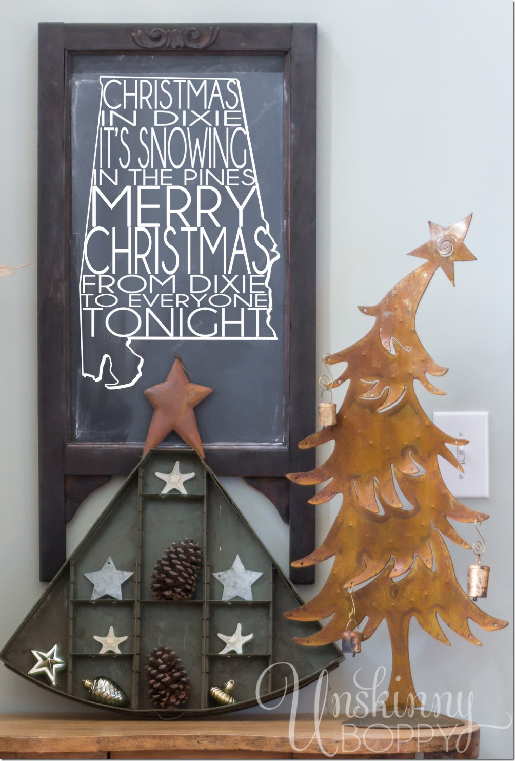 Christmas in Dixie Chalkboard