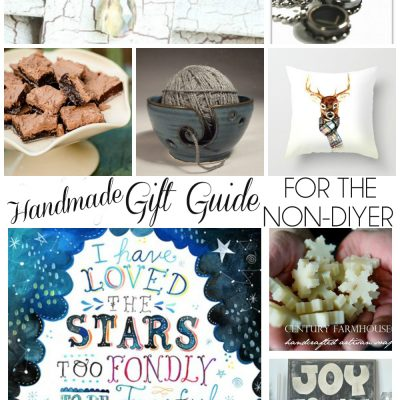 A Handmade Gift Guide for the non-DIYer