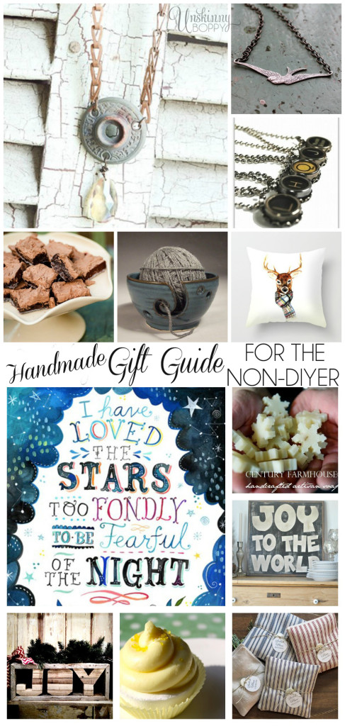 Handmade gift guide for the non-diyer