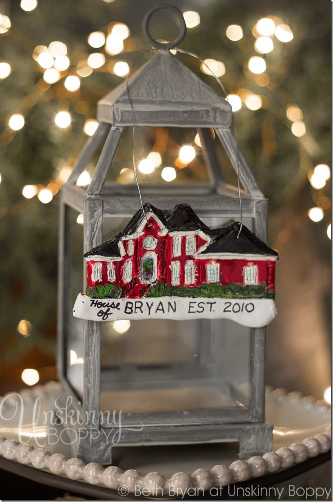 Personalized-DIY-House-replica-Christmas-Ornaments-made-from-Polymer-Clay-2