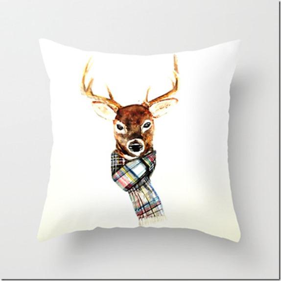 buck deer in scarf