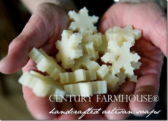 century Farmhouse snowflake soap