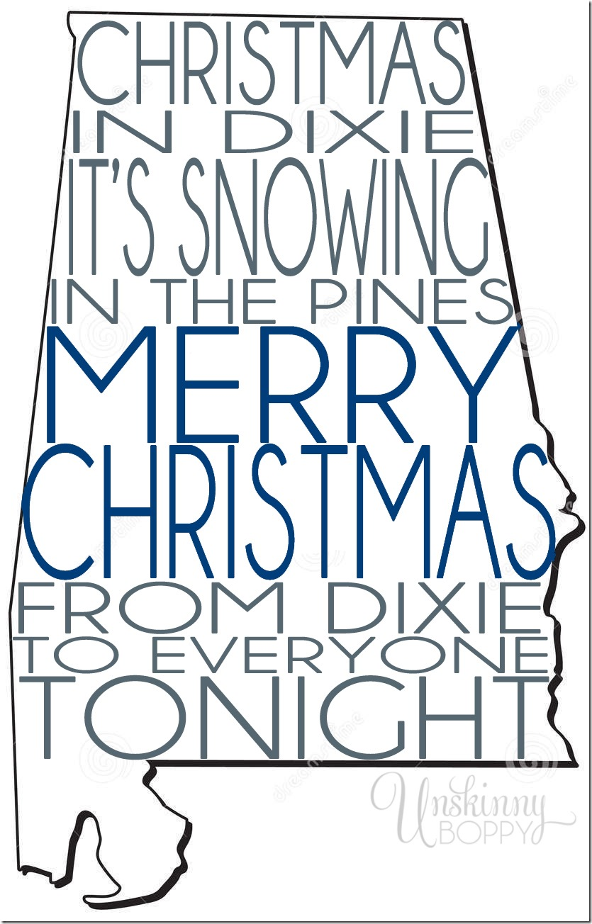 christmas in dixie print
