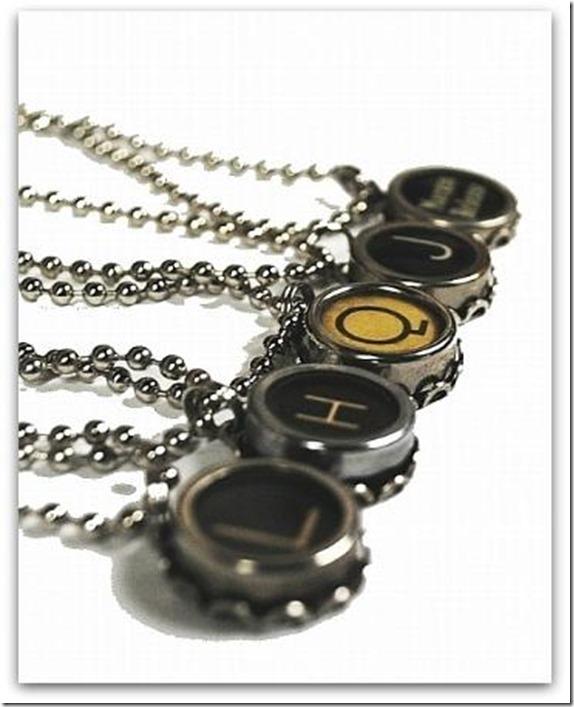 junxtaposition typewriter key jewelry