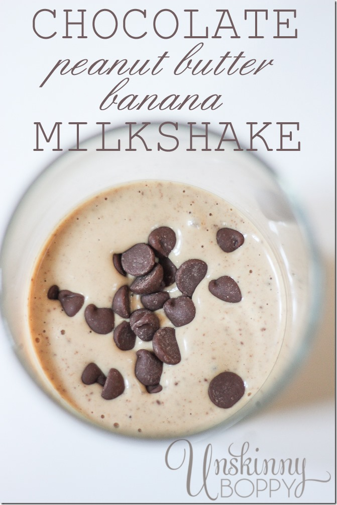 Chocolate Peanut Butter Banana Milkshake Recipes