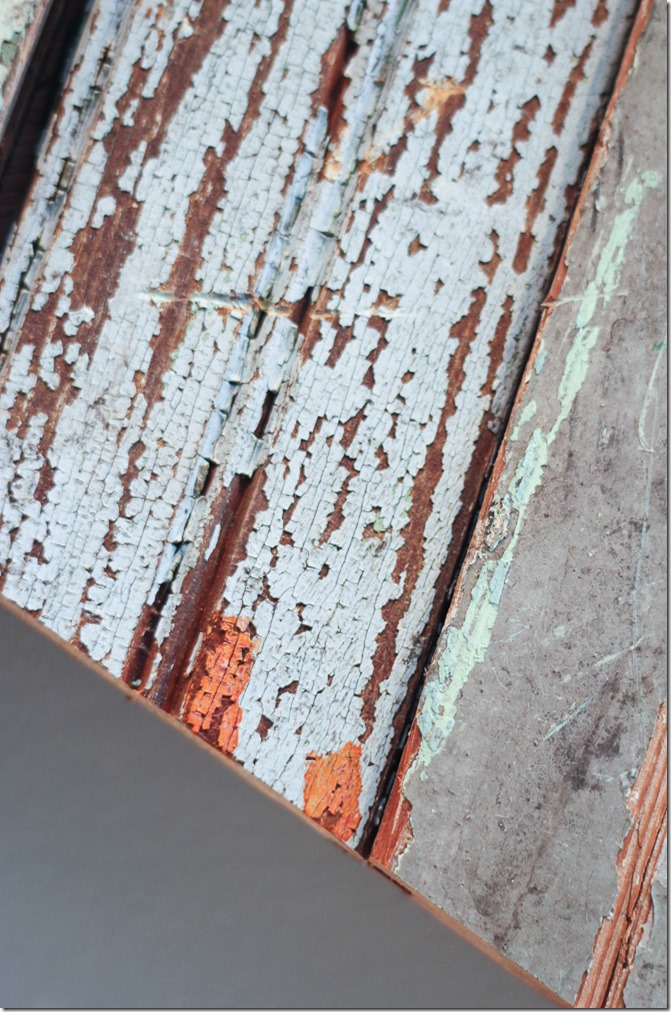 How to test chippy old wood for lead paint. Cut off some areas of paint and swab them with the lead paint test. If you see any red, that means there is lead!