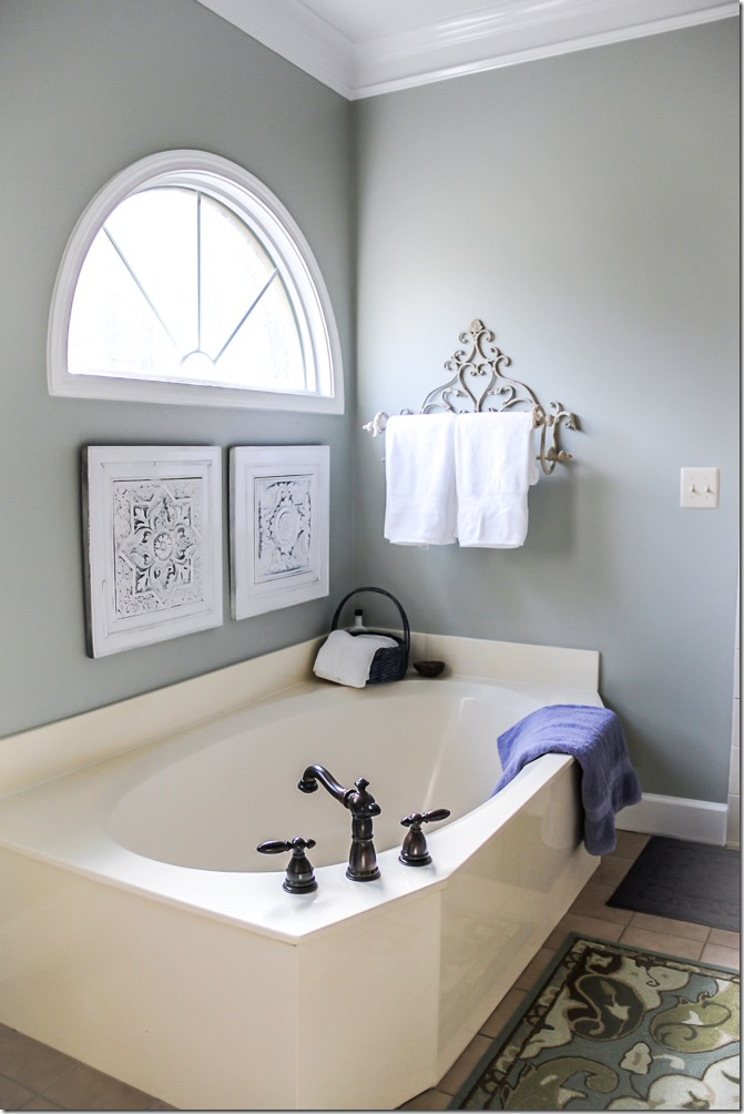 Master Bathroom Makeover- so pretty!-13