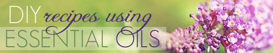 Recipes using essential oils