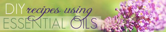 Recipes using essential oils